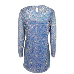 2020 New Design Lady Lace Sequins Party Cocktail Dress Shiny Long Sleeve Club Dress With Lining