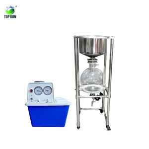 20l 304/316 stainless steel buchner funnel lab filtration glass nutsche filter with vacuum pump system with ptfe valve