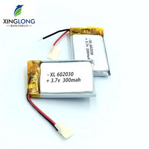 602030 small lithium polymer battery 300mah 3.7v for bluetooth/GPS/ product