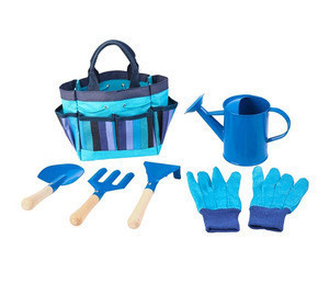6pcs vegetable garden kit for kids with bag,gloves, watering can
