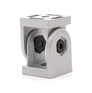 Adjustable universal corner connector square swivel pivot joint