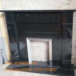 Cheap China Black Granite Stone Fireplace Hot Design UK Fireplace