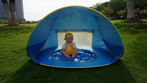 Foldable Toddler Baby UV-Protecting Pop Up Awning Tent Lightweight Beach Tent for Sun Shelter