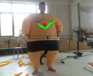 Funny festival Oxford Cloth inflatable adults sumo suit clothes