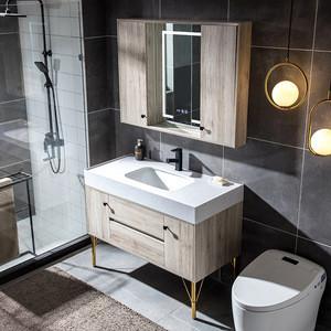 GN3370-110 Hot sale Modern Multilayer Solid Wood Washing Cabinet Bathroom