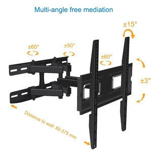 High Quality Standard VESA Solid LED TV Bracket,  Full Motion Lcd TV Wall Mount
