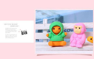 Hot Selling Promotional 3D Animal Pencil Rubber Eraser