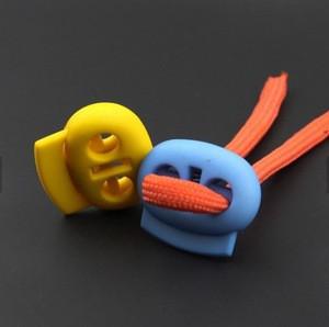 New Colorful Hole Plastic Stopper Cord Lock Toggle Clip Sportswear cord end stopper