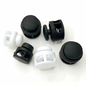Plastic Black Cord Lock Stopper  Round Ball Toggle Stopper Plastic Toggle Clip  For Bag Backpack Clothing Shoes