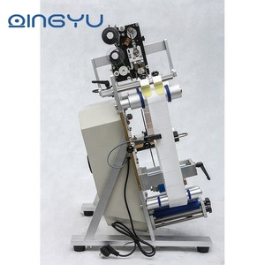 Semi automatic QY-130 Round Plastic water wine beer cans tube vial pet glass bottle labeling machine