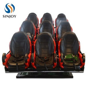 Video Game 5D 7D 9D Cinema Electrical / Hydraulic Software Immersive Sense Movies 5D Cinema Chair