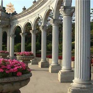 Villa garden use European style hand-carved natural stone column marble roman pillar