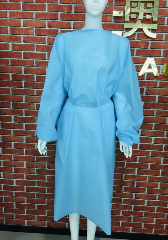 civilian isolation gown