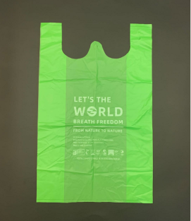 PLA T-Shirt Bag-Biodegradable & compostable