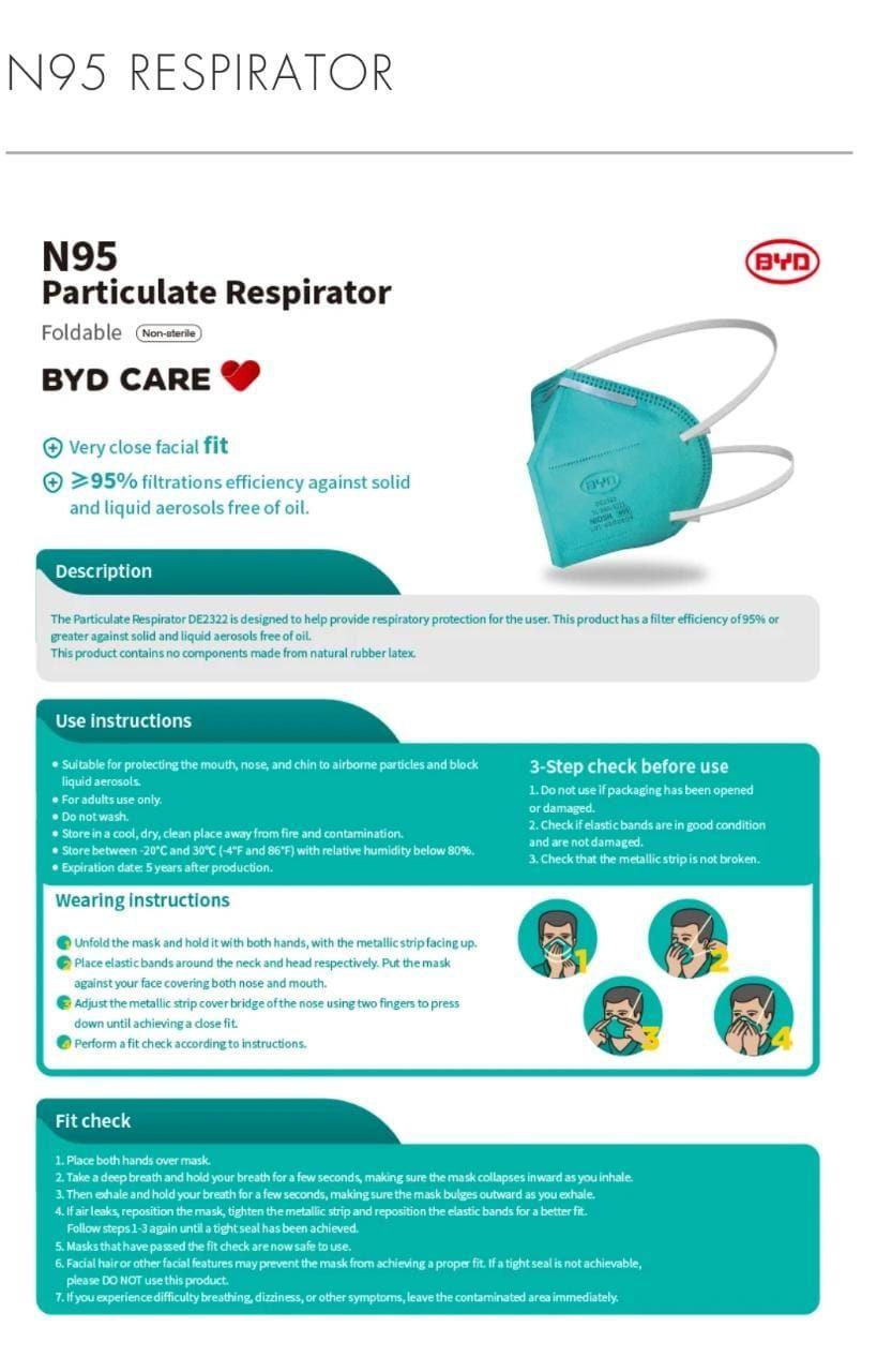 N 95 respirator Niosh approved