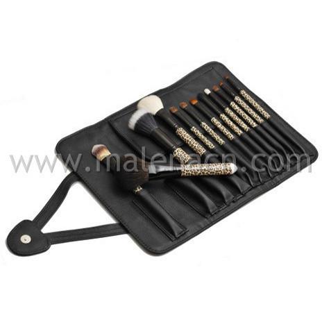 12PCS Professiona Cosmetic Makeup Brush with Plastic Handle