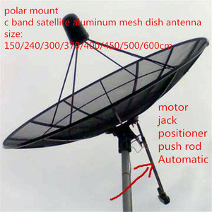 6ft feet 1.8m 180cm 72inch c band satellite aluminum mesh dish hd digital outdoor tv parabolic antenna