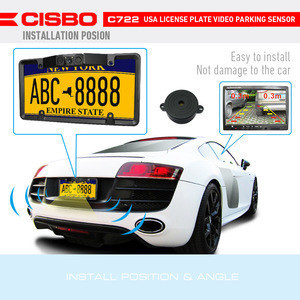 American License Plate Car Auto Reverse Rear View Camera Parking Sensor System