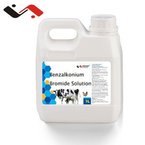 Animal disinfectant agent Benzalkonium Bromide Solution10% GMP factory