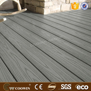 Anti Corrosive Timber grain wood plastic composite decking for Terrace plank