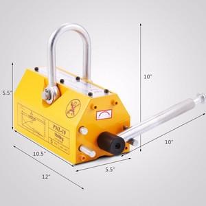BestEquip 2200 LBS Magnetic Lifter Heavy Duty Steel Magnetic Lifter Titanium Alloys Board Magnetic Metal Lifting
