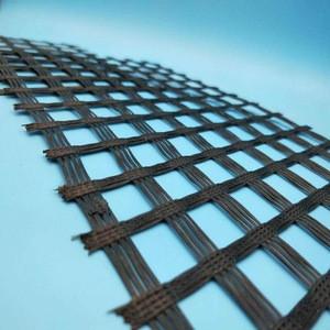Bitumen PVC Coated Biaxial Fiberglass geogrid fence