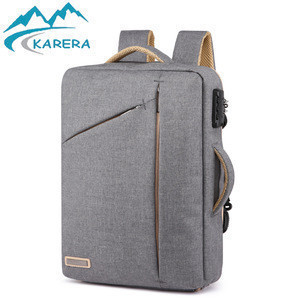 Briefcase Backpack, Anti-Theft Slim Thin Laptop Bag 17in Best Laptop Backpack for Women Grey