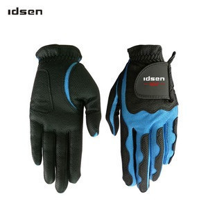 Chian manufacture Soft Full Color custom Indonesia Cabretta Leather golf gloves left hand for men