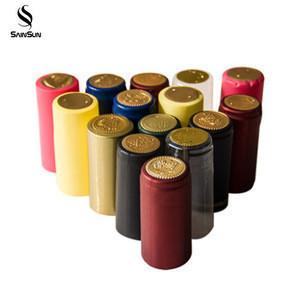 Custom Aluminium Foil Shrinkable Pvc Heat Printed Shrink Wine Bottle Empty Plastic Capsules