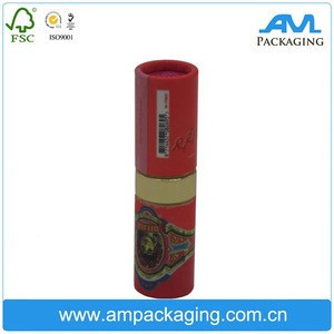 Custom made red paper lipstick tube with inside