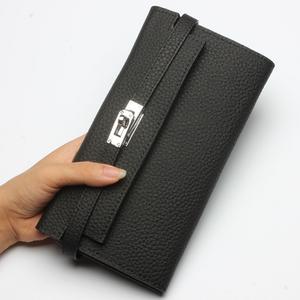 Custom Top grain leather women wallet, women wallet genuine leather