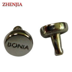 Customized zinc alloy metal logo rivet for leather