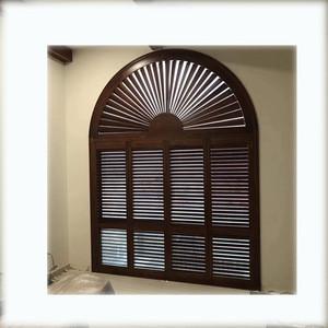 Decorative design for Basswood Shutters White, lifetime warranty