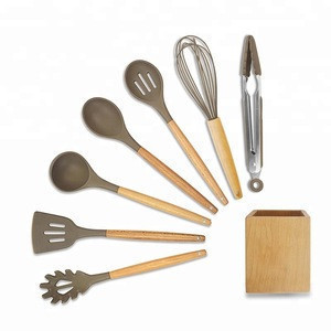 FDA LFGB Food Grade Wholesale Silicone Personalized Kitchen Utensil Set Modern Baking Cooking Tools Best Selling Products