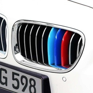 ForBMW 3-Series E46 E90 F30 F34 E92 E93 3 Series Motorsport Power M Performance Car Front Grille Trim Strips Cover
