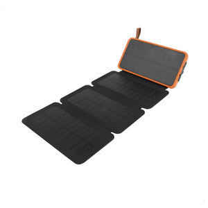 FREE SAMPLE, 8000MAH SOLAR POWER BANK,DOUBLE USB FOLDABLE SOLAR CHARGER WITH LED CAMPING LIGHT
