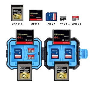 Free Sample Cheap PULUZ 9 in 1 Memory Card Case for 2XQD + 2CF + 2TF + 3SD Card