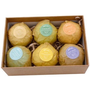 High Quality Cheap Price 6 pcs Pure Natural Organic Flower Fragrance Spa Salts Ball Fizzy Bath Bombs Gift Set