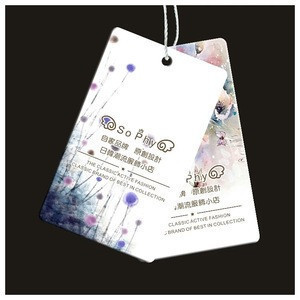 Hot sale china custom printing paper price hang tag / label for clothes