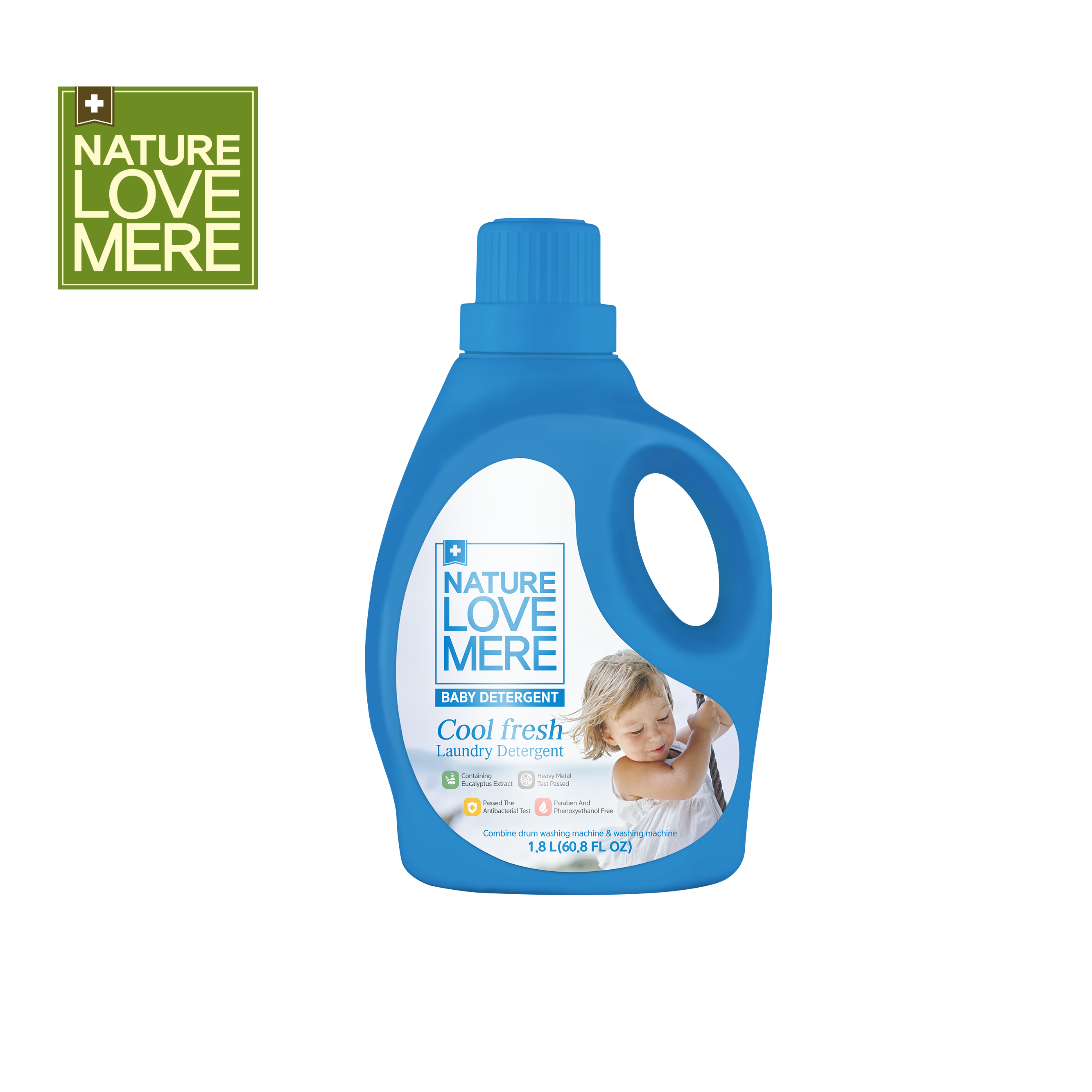 NATURE LOVE MERE Cool Fresh baby laundry detergent refill & container type (1,300ml & 1,800ml)