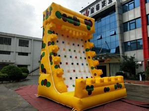 New 2018 commercial children adults inflatable rock climbing, rock climbing wall for sale