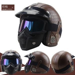 Outdoor Sports 3/4 Motorcycle Chopper Bike helmet open face vintage motorcycle helmet