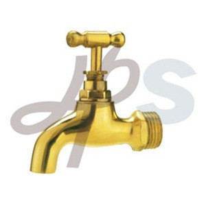Polished brass bibcock