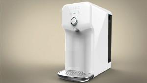Portable desktop reverse osmosis system hot water dispenser