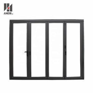 Powder Coated aluminum profile frame glass accordion bi-fold folding door