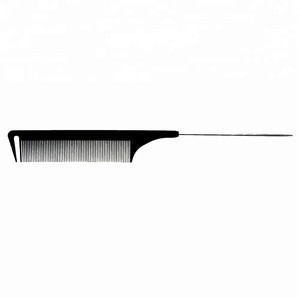 Professional carbon hair styling comb with steel tail pin