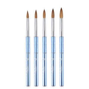 Professional Pure Kolinsky Nail Pen Metal Nail art Painting Brush Gel Polish Drawing Paint Acrylic Nail Art Pen Free Shipping