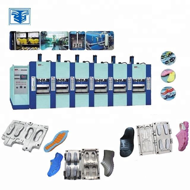 Single color full automatic EVA slipper shoe sole injection mould machine