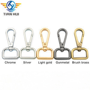 Snap hook with square ring metal spring swivel eye snap hook for purse