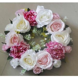 SPR 40CM wedding decoration  arrangements weddings table centerpiece flower wreath ring party & home backdrop decoration